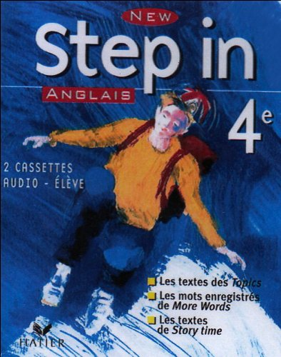 New Step In : Anglais, 4e LV1 (coffret 2 cassettes)