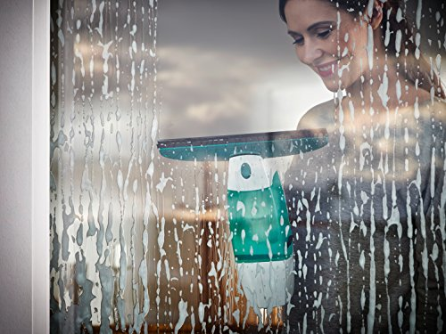 Leifheit Dry&Clean Aspirador Limpiacristales, Limpiador, Compuesto, Blanco y Verde, 23x10x34.5 cm