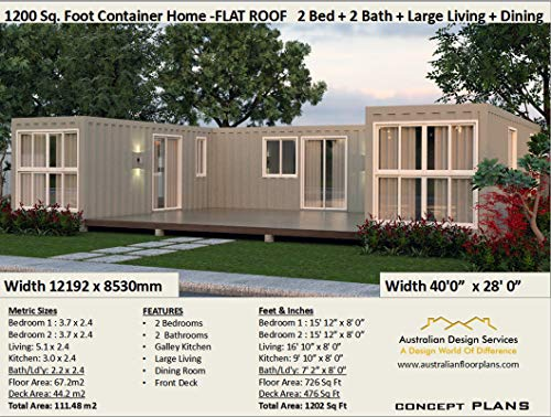 Beautiful 2-bedroom Home Shipping Container Home Concept ...