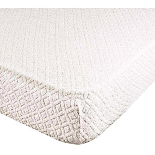 Coprimaterasso 100% morbida microfibra in tessuto jacquard di spugna elasticizzata misura 1 piazza letto singolo cm 90x200 con angoli ed elastici altezza materasso cm. 25