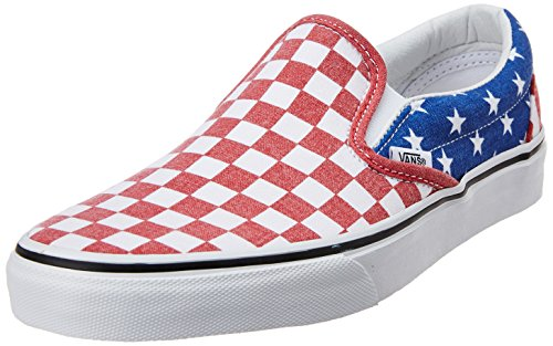 Vans Men's Classic Slip-on Van Doren Stars, Stripes and Checker Canvas Boat Shoes - 11 UK  available at amazon for Rs.1799
