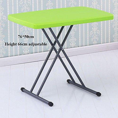 XIA Bureau d'ordinateur Table pliante Table de lit Bureau d'apprentissage Bureau Table d'étudiant Divertissement Jeux Petite Table Hauteur réglable Table Lift Fonction Bleu foncé Vert Gris Vert Orange