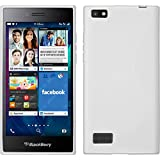 PhoneNatic Coque en Silicone pour BlackBerry Leap - S-Style blanc - Cover Cubierta + films de protection