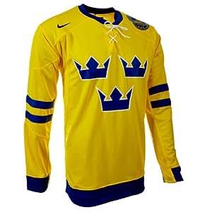 Nike 265238-749 Maillot de l'équipe nationale suédoise de hockey sur glace Jaune/noir Jaune xxl