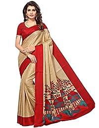 Indian Fashionista Women's Manipuri Silk Saree With Blouse Piece (Printed Saree)