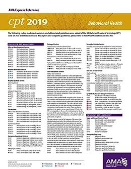 Erc-cpt 2019 Behavioral Health por American Medical Association epub
