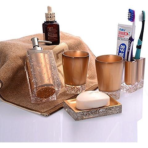 Tocador de Baño blanco de resina Wc elegante hogar suministros Suministros Juego de 5 piezas