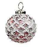 Decoline Glas Weihnachtskugeln 4 Stück Ananas Ø 8cm rot