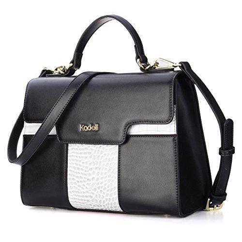 Kadell Frauen Handtaschen Krokodil Muster Leder Schultertasche Elegant Business Damen Taschen Weiß