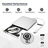 External DVD Drive, Patuoxun Portable USB 3.0 CD DVD Burner Drive Writer Player for Windows, Laptop, Apple, Mac, iMac, Macbook Air /Pro, Desktop, PC