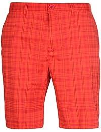Slazenger Homme Carreaux Golf Short Bermudas Caleçon Sport Décontracté Poches