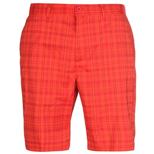Slazenger Homme Carreaux Golf Short Bermudas Caleçon Sport Décontracté Poches Homme Rouge/Royal 2XL