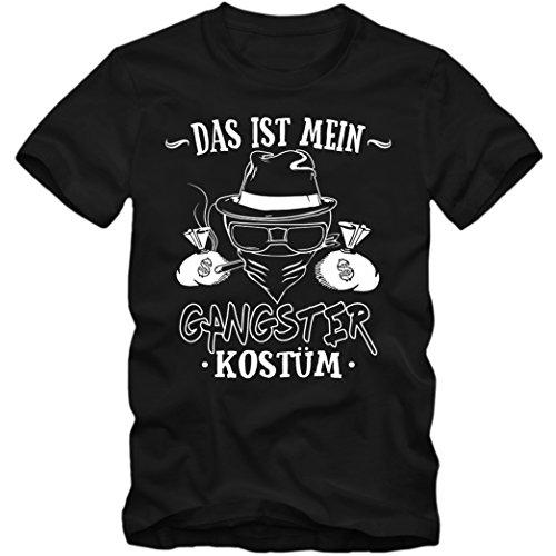 mium T-Shirt | Verkleidung | Karneval | Fasching | Kinder | Shirt, Farbe:Schwarz (Deep Black L190k);Größe:10 Jahre (130-140 cm) (Gangster-kostüm Für Kinder)