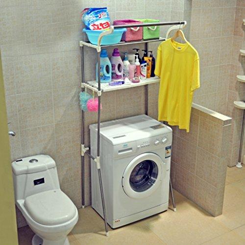 Opiniones lavadora estante estante de acero inoxidable for Estanteria bano acero inoxidable
