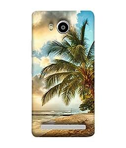 PrintVisa Designer Back Case Cover for Lenovo A7700 (Scene By The Beach Classy Design)