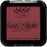 NYX Professional Makeup Sweet Cheeks Creamy Powder Blush Matte, Bang Bang 05 800897191832