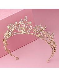 &zhou Tocado nupcial de la joyería del pelo a mano Los accesorios del vestido de boda los 14 * 6cm
