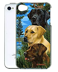 Gift Trenz Kangaroo Lab 3D Labrador iPhone 4/4s Case - Retail Packaging - Multicolor