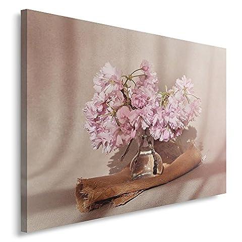 Feeby. Tableau Déco - 1 partie - 30x40 cm, Impression sur Toile Décoration Murale Image Imprimée, FLEURS, EAU, NATURE,