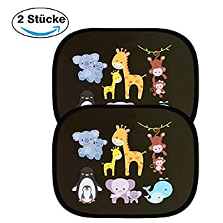Astarye Car Window Shade for Baby Car Sun Shade Car Sunshade Block Harmful UV Protection als Baby Sign for Car Car Accessories for Kids Pet Dog Cat 44x36 cm