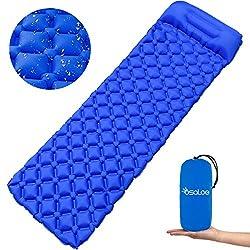 Osaloe Aufblasbare Isomatte, Ultraleicht Camping Schlafmatte mit Kissen, Wasserdicht & Kompakt Aufblasbare Luftmatratze für Camping, Outdoor,Reise, Wandern, Strand