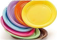 Piatti in plastica rigida colorati DOpla 30 pz - giallo