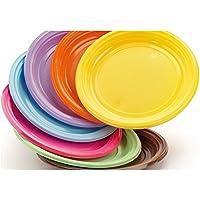 DOpla 50 platos de postre color amarillo.