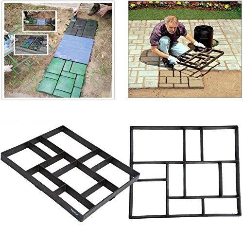 GOTOTOP Stampi Pavimento,DIY Stampo per lastre da pavimentazione,marciapiede Forma,Giardino Fai da Te Percorso Modello pavimentazione,DIY Path Maker Mold Walkmaker (60X50X5cm)