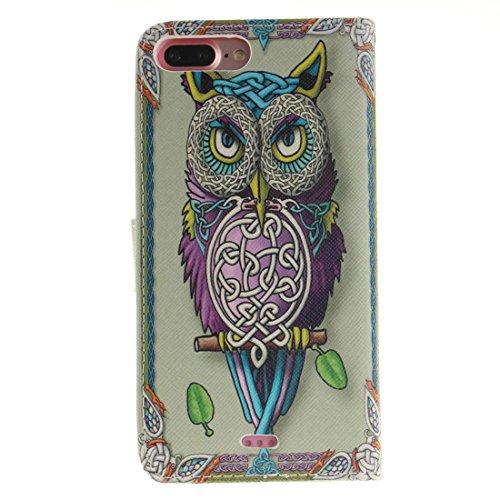 Animal Motif ( tigre ) Apple iPhone 7 Plus 5.5 inch Coque de Protection Case Rabat Style Portefeuille Souple PU Cuir Carte Titulaire Housse de Protection Rose-1