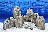 Aquarium Glimmer Wood Rock in Grau und Glimmereffekt 2,3-2,7 Kg Felsen Nr.47