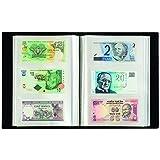 Album pour 300 billets de banque, noir, avec 100 feuilles reliées transparentes