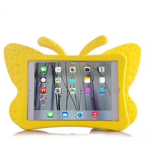 HCHA Apple iPad 234Kids Fall Kid kinderfreundlich stoßfest Schutzhülle fallgeschützt strapazierfähigem EVA-Schaum Schutzhülle für iPad 2/3/4Generation 24,6cm (Butterfly gelb) (Ipad Kinderfreundlich Fall)