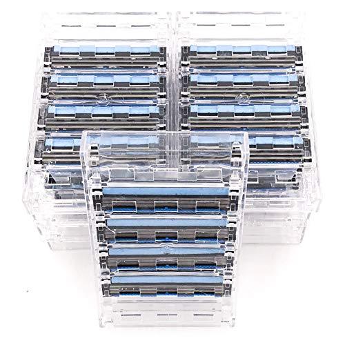 Taconic Shave 40 Triple-Blade-Kassetten (10 x 4), kompatibel mit allen Gillette Sensor und Personna Triflexx Razor Griffe, hergestellt in den USA -