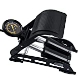 #6: Supermall Portable Bike Pump, Double Barrel Foot Pump with Accurate Pressure Gauge, Floor Foot Pump Aluminum Body High Pressure Air Pump Foot Inflator Multi use Bike Bicycles, Tire, Cars, Inflating Pools, Toy`s, Basketballs, Footballs-Black Color