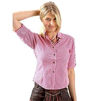 almbock trachtenbluse damen langarm karierte bluse in vielen farben aus 100 baumwolle. Black Bedroom Furniture Sets. Home Design Ideas
