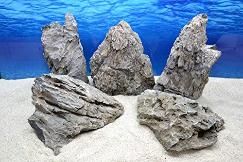 Pro Stein (Pro Stein Aquarium Deko Natursteine Seiryu grau 4,5-5,5 Kg Felsen Nr.69 Rückwand Pagode Dekoration Aquascaping)
