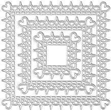 JiaMeng Plantillas de Estarcidos DIY con Forma Scrapbooking Gofrado Troquelado Kit Plantillas de moldes de Corte