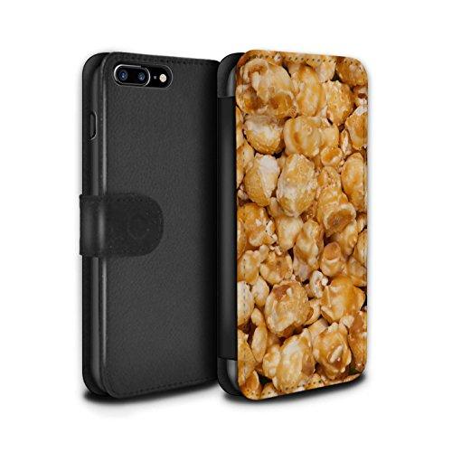 Stuff4 Coque/Etui/Housse Cuir PU Case/Cover pour Apple iPhone 7 Plus / Noix de cajou Design / Casse-Croûte Collection Butterkist Popcorn