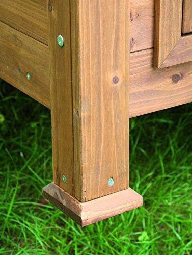 Kerbl abri en bois pour poulelapin 105 x 100 x 108 cm for Abri lapin exterieur