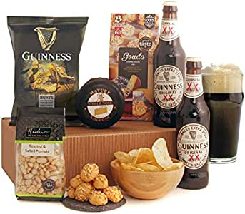 Guinness Gifts - This Popular Beer Gift Includes 2 Bottles of The Magic of Guinness with Savoury Snacks and Cheese - *New* Revised Version