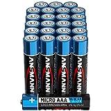 ANSMANN Batterien AAA Alkaline Größe LR03 - AAA Batterie für Fernbedienung (24 Stück...