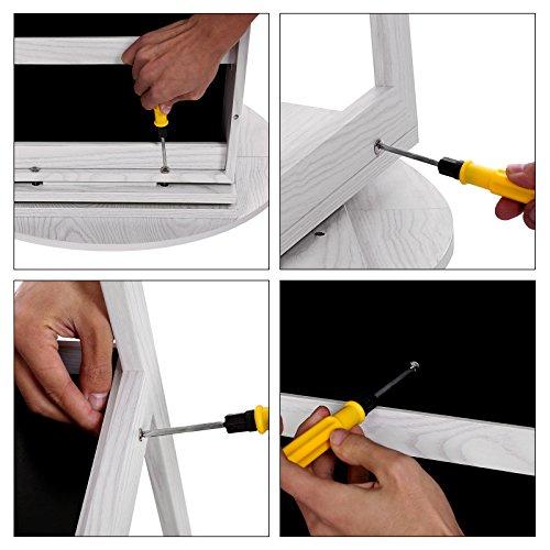 Songmics Schmuckschrank mit 160 cm hohem Spiegel abschließbar um 360° drehbar mit Leiterregal JBC62W - 9