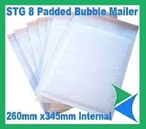 50 White Padded Bubble Envelopes Books 260x345mm STG 8 (H)