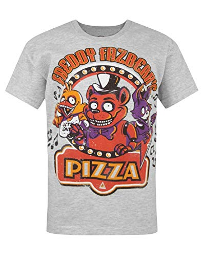 Official Five Nights At Freddy's Grey Kids T-Shirt (5-6 Years)