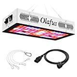 Olafus 300W LED Pflanzenlampe mit 3 Einstellungsmodi, Vollspektrum LED Grow Light Panel, IR Rot Blau Pflanzenlicht mit Daisy-Chain Funktion, Wachstumslampe Pflanzenleuchte für Gemüse Blumen