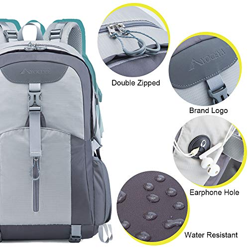 516AClH5E9L. SS500  - Casual Backpack, Water Resistant Slim Lightweight Laptop Rucksack For Men/Women, Large Travel/Hiking/Cycling Daypacks With Earphone Hole, College/High School Bags For Boys/Girls -32L, Grey