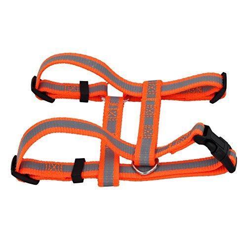 Reflektierendes Hundegeschirr Geschirr Brustgeschirr soft nylon mit unterschiedlichen Größen B Ware (GA-1007(M), orange)