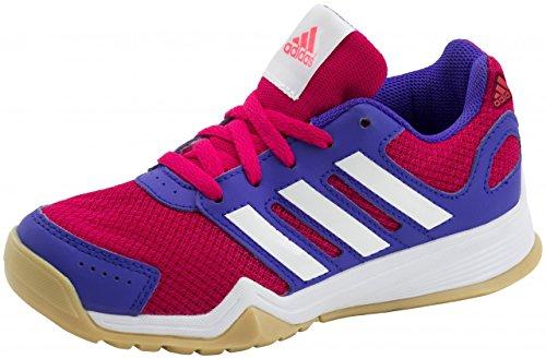 Adidas Kinder Trainingsschuhe Interplay K, Gr.-36 EU ,Rosa/Weiß/Lila