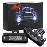 Win Power SMD LED Kennzeichenleuchte Heckleuchte für 12V PKW, 6000K Xenon-Look, Nummernschildbeleuchtung, Weiß, 2 Stück