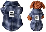 Ropa para mascotas ropa de la camisa de tela escocesa de perros for perros camiseta de mascota gato verano ropa for perros de vestuario productos for mascotas accesorios del perro barato, tamaño: M 2.